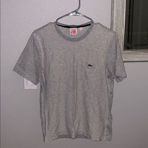 Men's grey Lacoste l!ve T-shirt